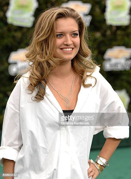 Actress Lauren Storm arrives at Chevy Rocks The Future at the Buena Vista Lot at The Walt Disney Studios on February 19 2008 in Burbank California