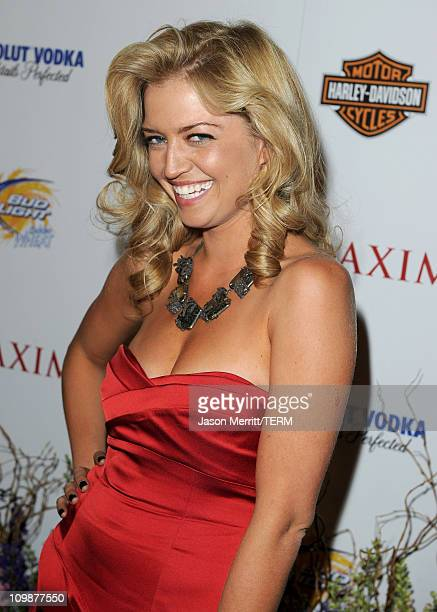 Actress Lauren Storm arrives at the 11th annual Maxim Hot 100 Party with HarleyDavidson ABSOLUT VODKA Ed Hardy Fragrances and ROGAINE held at...