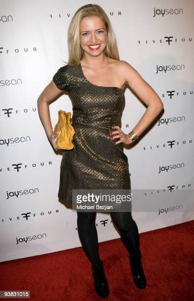 Actress Lauren Storm arrives to Jay Sean's album release party presented by Five Four at H Wood on December 2 2009 in Los Angeles California