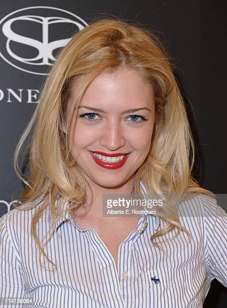Actress Lauren Storm attends a personal appearance by Simone I Smith at Bloomingdale's on May 12 2011 in Century City California