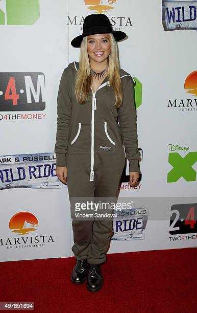 Actress Lauren Taylor attends the premiere of Disney XD's original movie Mark Russell's Wild Ride at ArcLight Hollywood on November 18 2015 in...
