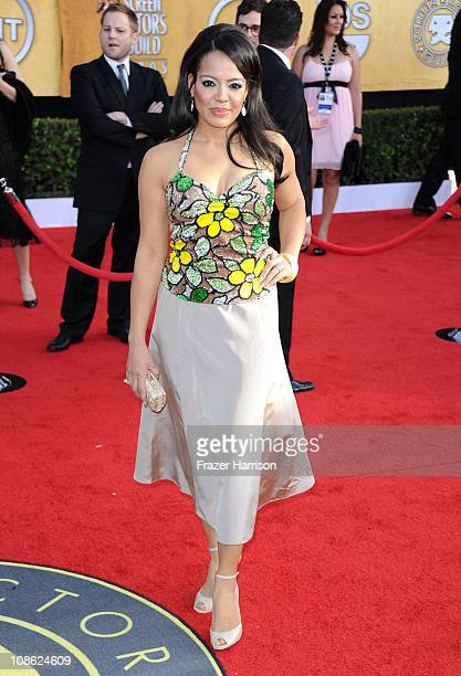 Actress Lauren Velez arrives at the 17th Annual Screen Actors Guild Awards held at The Shrine Auditorium on January 30 2011 in Los Angeles California