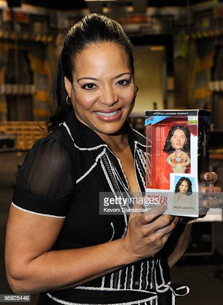 Actress Lauren Velez attends the Screen Actor Guild Awards ceremony and gala behind the scenes event at the Shrine Expo Center on January 21, 2010 in...