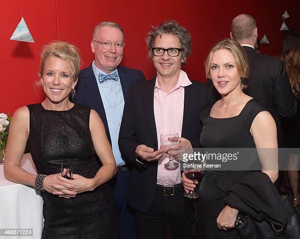 Actress Lauren Weedman Randy Lakeman musician Dean Wareham and musician Britta Phillips attend the 2015 REDCAT Gala Honoring Jamie And Michael Lynton...