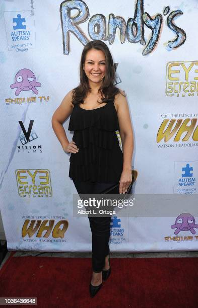 Actress Lauren White arrives for WHQ Vision Films Shquib TV And Eye Scream Films' Release Of 'Randy's Canvas'held at Laemmle Music Hall on September...