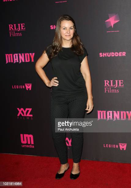 Actress Lauren White attends the special screening and QA of 'Mandy' At Beyond Fest at the Egyptian Theatre on September 11 2018 in Hollywood...