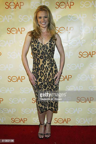 Actress Lauren Woodland attends the Soapnet Fall Launch Party at the Falcon Restaurant on September 23 2004 in Hollywood California