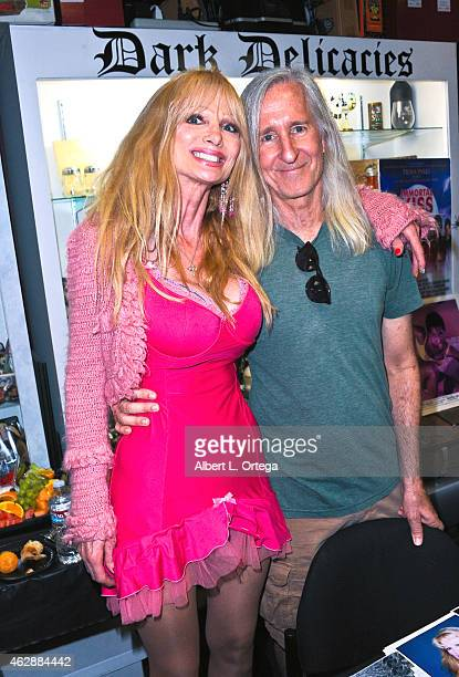 Actress Laurene Landon and producer Mick Garris at the Second Annual David DeCoteau's Day Of The Scream Queens held at Dark Delicacies Bookstore on...