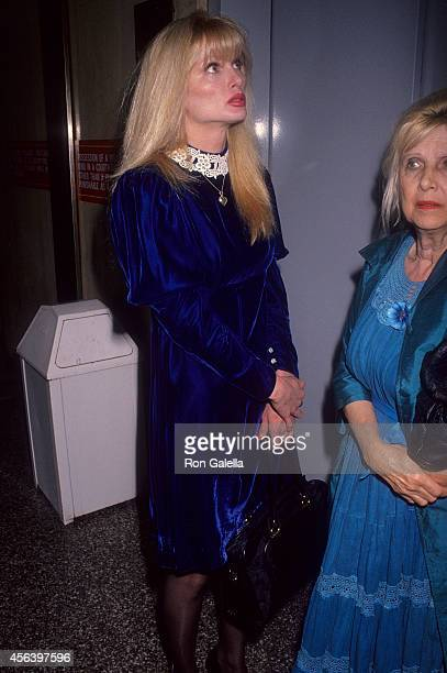 Actress Laurene Landon attends Christian Brando trial for murder in the shooting death of Dag Drollet at his father's home on February 26, 1991 at...