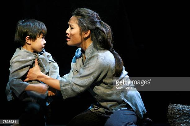 Actress Laurie Cadevida performs during a media call for Miss Saigon at the Lyric Theatre on September 21 2007 in Sydney Australia