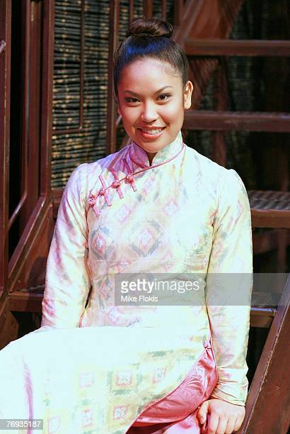 Actress Laurie Cadevida poses during a media call for Miss Saigon at the Lyric Theatre on September 21 2007 in Sydney Australia