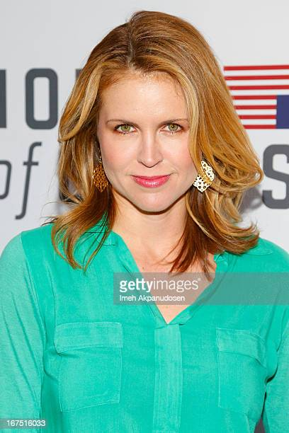 Actress Laurie Fortier attends Netflix's 'House Of Cards' For Your Consideration QA Event at Leonard H Goldenson Theatre on April 25 2013 in North...