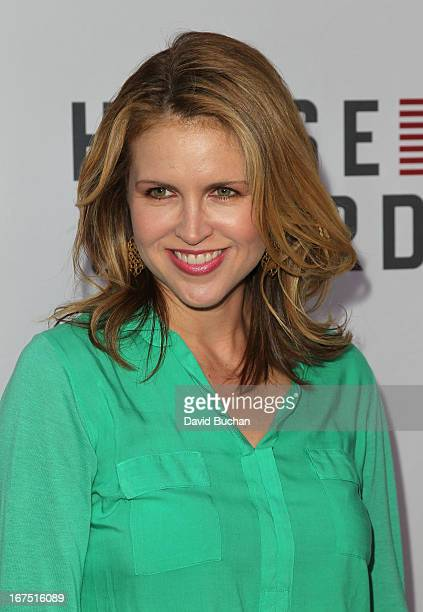 Actress Laurie Fortier attends Netflix's House Of Cards For Your Consideration QA Event at Leonard H Goldenson Theatre on April 25 2013 in North...