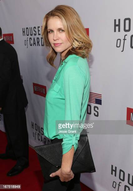 Actress Laurie Fortier attends Netflix's House of Cards For Your Consideration QA on April 25 2013 at the Leonard H Goldenson Theatre in North...