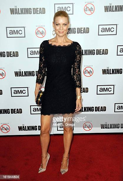 Actress Laurie Holden arrives for AMC's 'The Walking Dead' Season 3 Premiere held at AMC Universal Citywalk Stadium 19 on October 4 2012 in Universal...