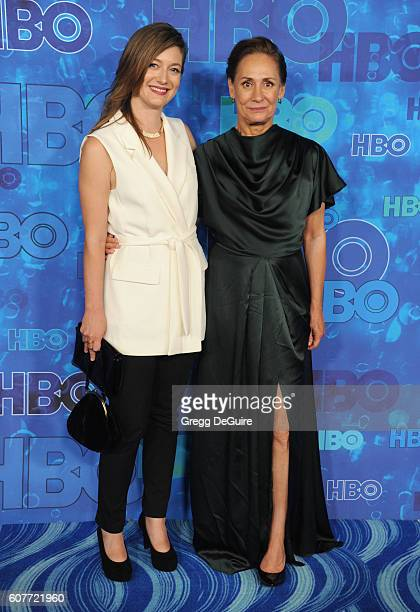 Actress Laurie Metcalf and daughter Zoe Perry arrive at HBO's Post Emmy Awards Reception at The Plaza at the Pacific Design Center on September 18...
