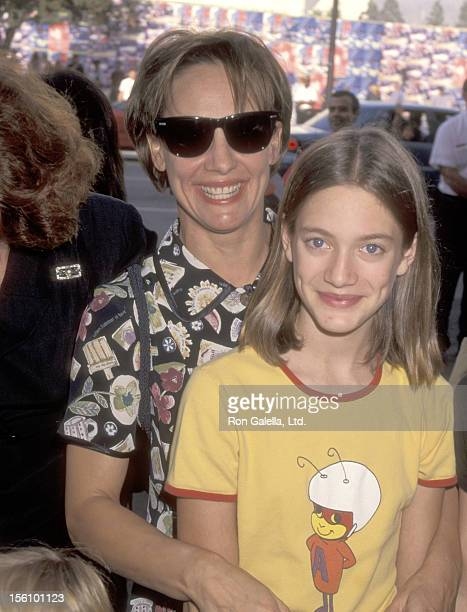 Actress Laurie Metcalf and daughter Zoe Perry attend the 'Toy Story' Hollywood Premiere on November 19 1995 at El Capitan Theatre in Hollywood...