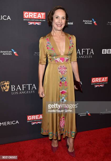 Actress Laurie Metcalf arrives at The BAFTA Los Angeles Tea Party at Four Seasons Hotel Los Angeles at Beverly Hills on January 6 2018 in Los Angeles...