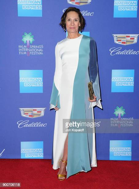 Actress Laurie Metcalf attends the 29th Annual Palm Springs International Film Festival Awards Gala at Palm Springs Convention Center on January 2...