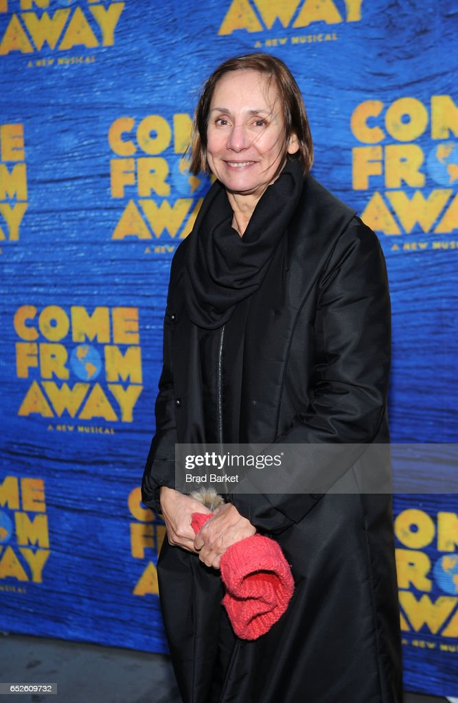 Actress Laurie Metcalf attends the 'Come From Away' Broadway Opening Night - Arrivals & Curtain Call at Gerald Schoenfeld Theatre on March 12, 2017 in New York City.