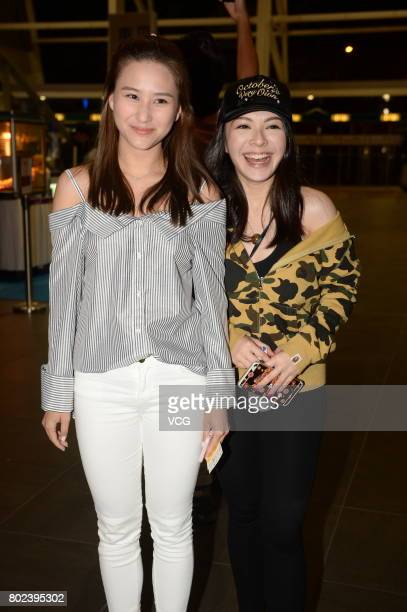 Actress Laurinda Ho arrives for American singer Britney Spears's concert on June 27 2017 in Hong Kong China