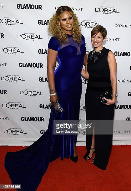 Actress Laverne Cox and editor-in-chief of Glamour magazine Cindi Leive attend the Glamour 2014 Women Of The Year Awards at Carnegie Hall on November...