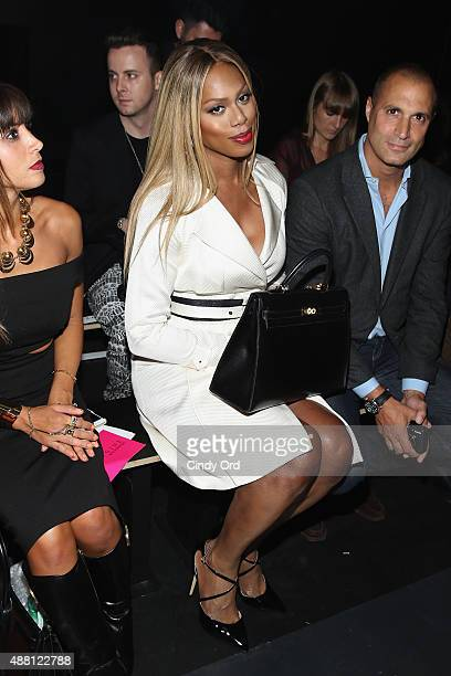 Actress Laverne Cox and photographer Nigel Barker attend Georgine Spring 2016 during New York Fashion Week The Shows at The Dock Skylight at Moynihan...