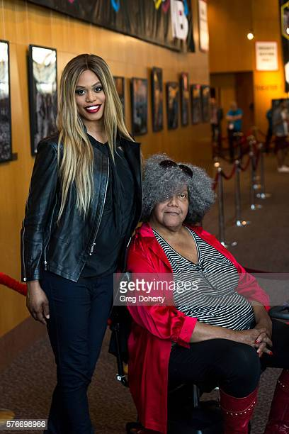 Actress Laverne Cox and Trans woman acitivist Miss Major GriffinGracy attends the Outfest 2016 Screening Of The Trans List at Director's Guild Of...
