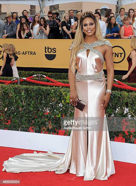 Actress Laverne Cox arrives at the 21st Annual Screen Actors Guild Awards at The Shrine Auditorium on January 25, 2015 in Los Angeles, California.