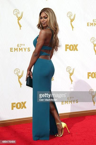 Actress Laverne Cox arrives at the 67th Annual Primetime Emmy Awards at the Microsoft Theater on September 20 2015 in Los Angeles California