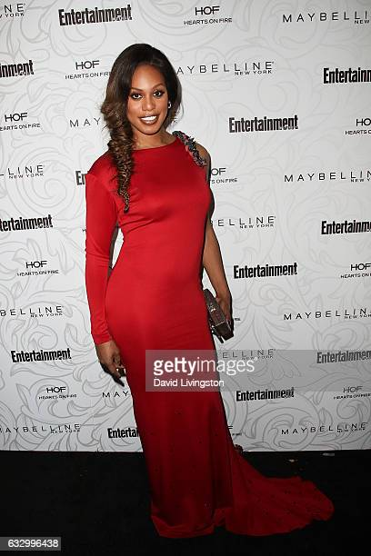 Actress Laverne Cox arrives at the Entertainment Weekly celebration honoring nominees for The Screen Actors Guild Awards at the Chateau Marmont on...
