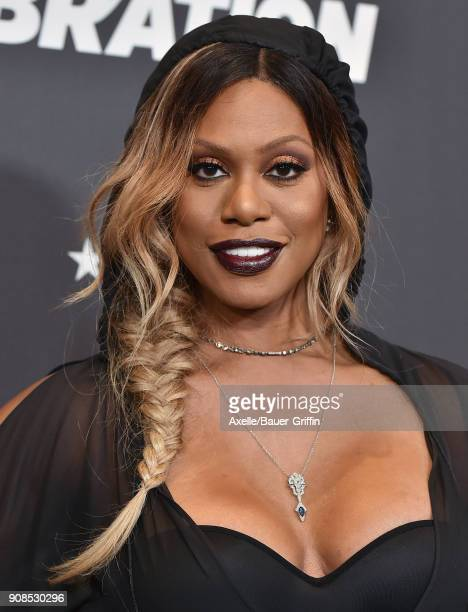 Actress Laverne Cox arrives at the Lip Sync Battle LIVE A Michael Jackson Celebration at Dolby Theatre on January 18 2018 in Hollywood California