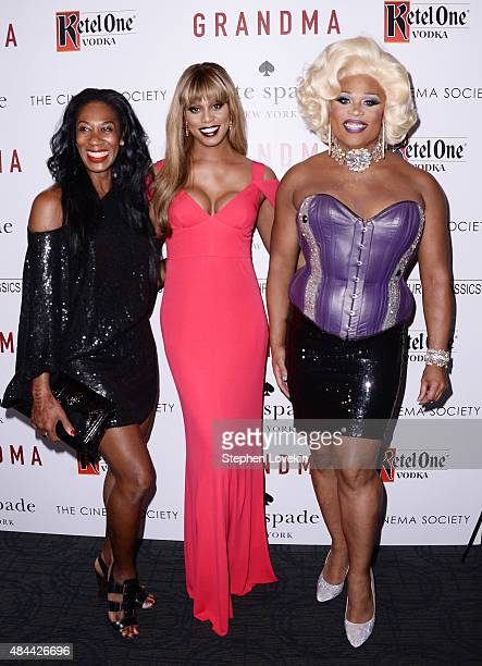 Actress Laverne Cox attends a screening of Sony Pictures Classics' 'Grandma' hosted by The Cinema Society and Kate Spade at Landmark Sunshine Cinema...