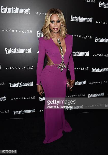 Actress Laverne Cox attends Entertainment Weekly's celebration honoring THe Screen Actors Guild presented by Maybeline at Chateau Marmont on January...