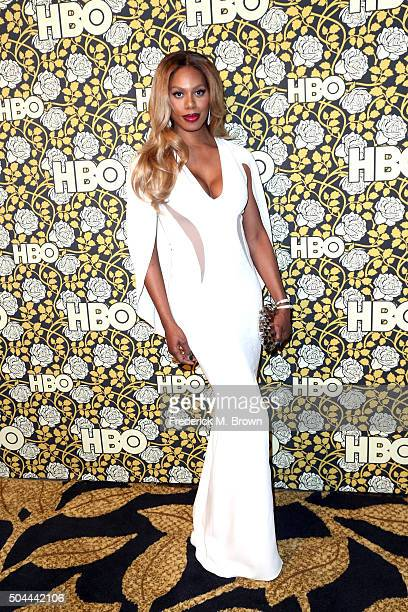 Actress Laverne Cox attends HBO's Post 2016 Golden Globe Awards Party at Circa 55 Restaurant on January 10 2016 in Los Angeles California