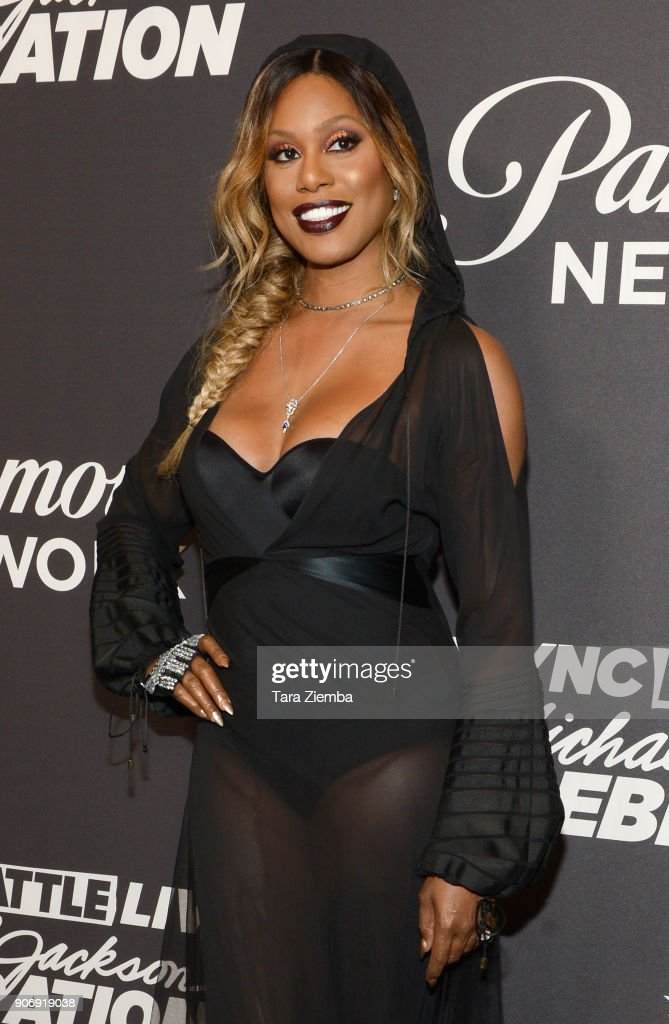 Actress Laverne Cox attends Lip Sync Battle Live: A Michael Jackson Celebration at Dolby Theatre on January 18, 2018 in Hollywood, California.
