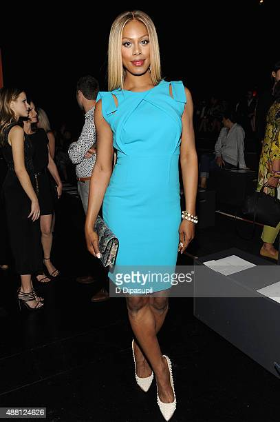 Actress Laverne Cox attends Prabal Gurung Spring 2016 during New York Fashion Week The Shows at The Arc Skylight at Moynihan Station on September 13...