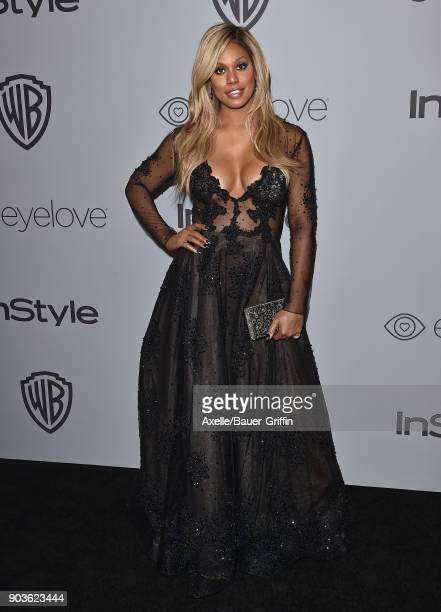 Actress Laverne Cox attends the 19th Annual PostGolden Globes Party hosted by Warner Bros Pictures and InStyle at The Beverly Hilton Hotel on January...
