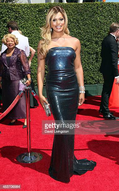 Actress Laverne Cox attends the 2014 Creative Arts Emmy Awards at the Nokia Theatre L.A. Live on August 16, 2014 in Los Angeles, California.