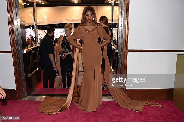Actress Laverne Cox attends the 2016 CFDA Fashion Awards at the Hammerstein Ballroom on June 6, 2016 in New York City.