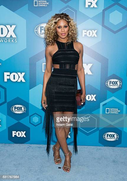 Actress Laverne Cox attends the 2016 Fox Upfront at Wollman Rink Central Park on May 16 2016 in New York City