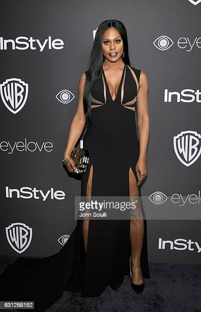 Actress Laverne Cox attends The 2017 InStyle and Warner Bros 73rd Annual Golden Globe Awards PostParty at The Beverly Hilton Hotel on January 8 2017...