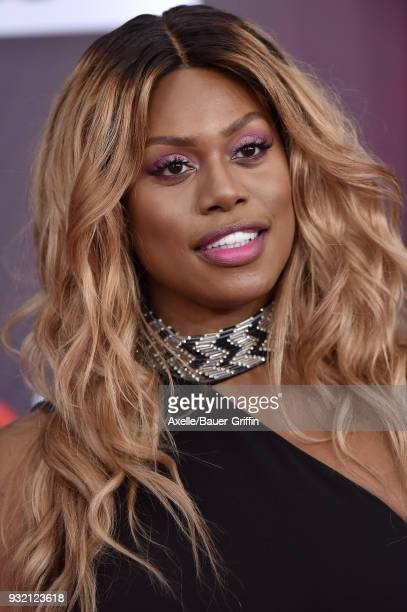 Actress Laverne Cox attends the 2018 iHeartRadio Music Awards at the Forum on March 11 2018 in Inglewood California