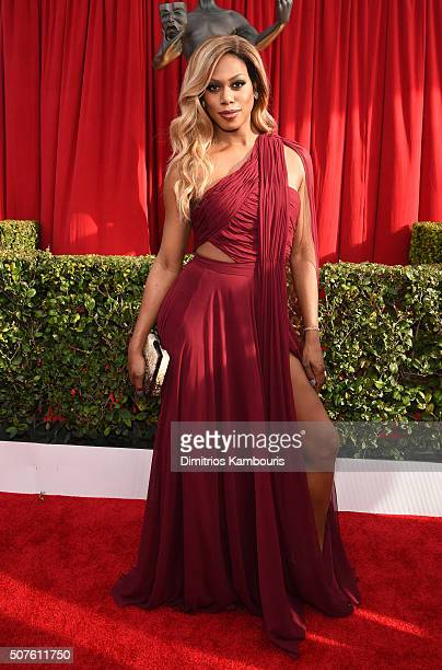 Actress Laverne Cox attends The 22nd Annual Screen Actors Guild Awards at The Shrine Auditorium on January 30 2016 in Los Angeles California 25650_013