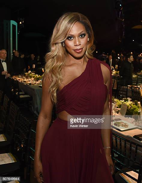 Actress Laverne Cox attends The 22nd Annual Screen Actors Guild Awards at The Shrine Auditorium on January 30 2016 in Los Angeles California 25650_021