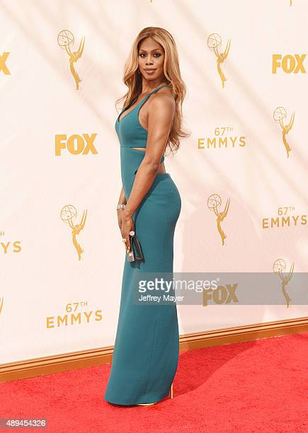 Actress Laverne Cox attends the 67th Annual Primetime Emmy Awards at Microsoft Theater on September 20 2015 in Los Angeles California