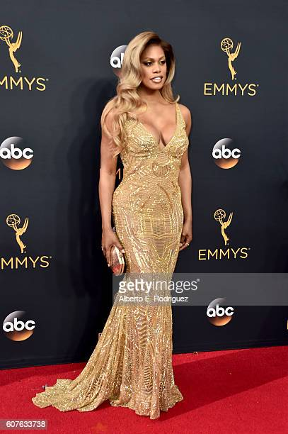 Actress Laverne Cox attends the 68th Annual Primetime Emmy Awards at Microsoft Theater on September 18, 2016 in Los Angeles, California.