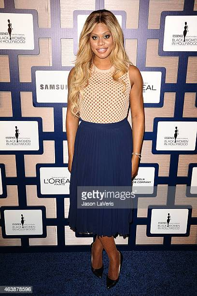 Actress Laverne Cox attends the 8th annual ESSENCE Black Women In Hollywood luncheon at the Beverly Wilshire Four Seasons Hotel on February 19 2015...