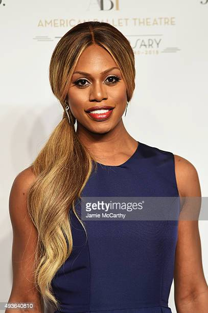 Actress Laverne Cox attends the American Ballet 75th Anniversary Fall Gala at David H Koch Theater at Lincoln Center on October 21 2015 in New York...