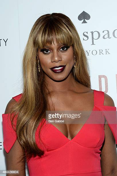 Actress Laverne Cox attends The Cinema Society and Kate Spade host a Screening of Sony Pictures Classics' 'Grandma' at Landmark Sunshine Cinema on...